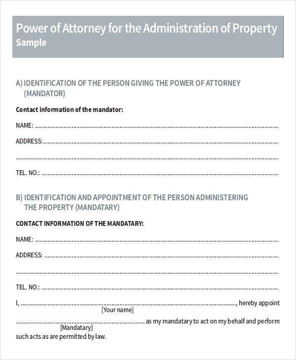 Legal Letter Format Sample. Sample Poa Letter Sample Power Of ...