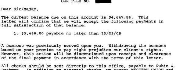 GE Money Bank Sample Debt Settlement Offer Letter - Leave Debt Behind