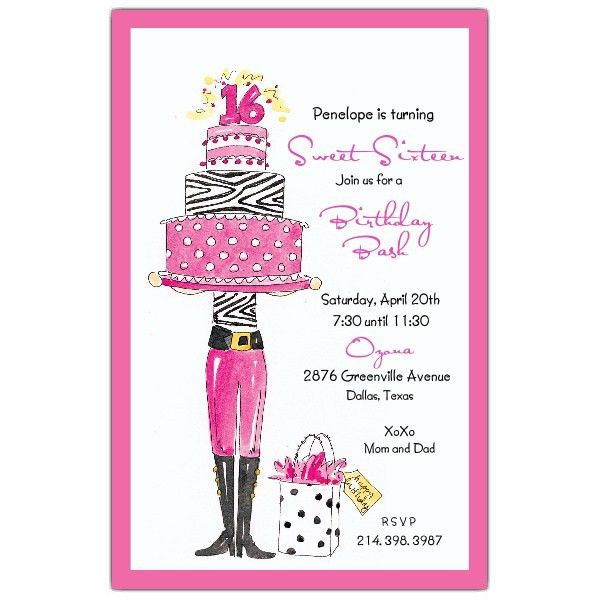 Girls Birthday Invitations Ideas Free Templates – Bagvania FREE ...