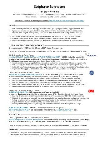 Procurement Specialist Resume Examples. logistics specialist ...