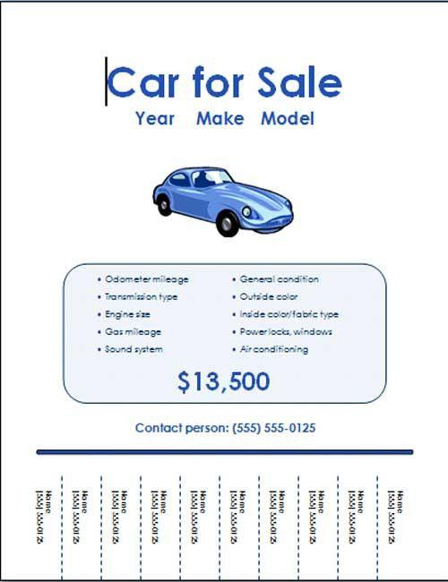 5 Free Car for Sale Flyer Templates - Excel PDF Formats