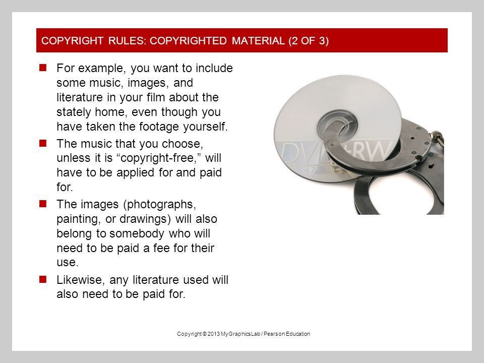 STANDARD COPYRIGHT RULES AND RELATED TERMS MyGraphicsLab Adobe ...