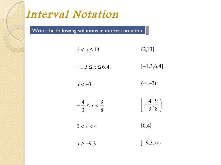 Module 1 solving inequalities notes