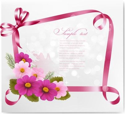 3d flower greeting cards free vector download (23,342 Free vector ...