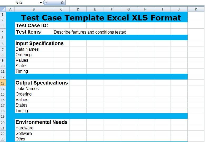 Project Management Test Case Template Excel xls - Microsoft ...