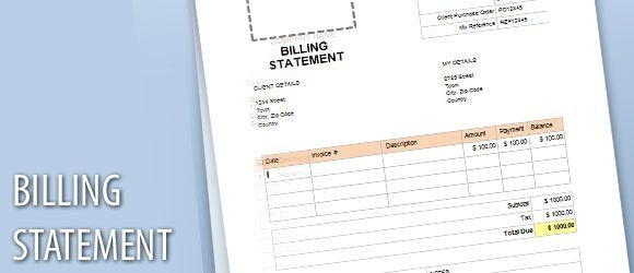 Billing Statement Template for Word