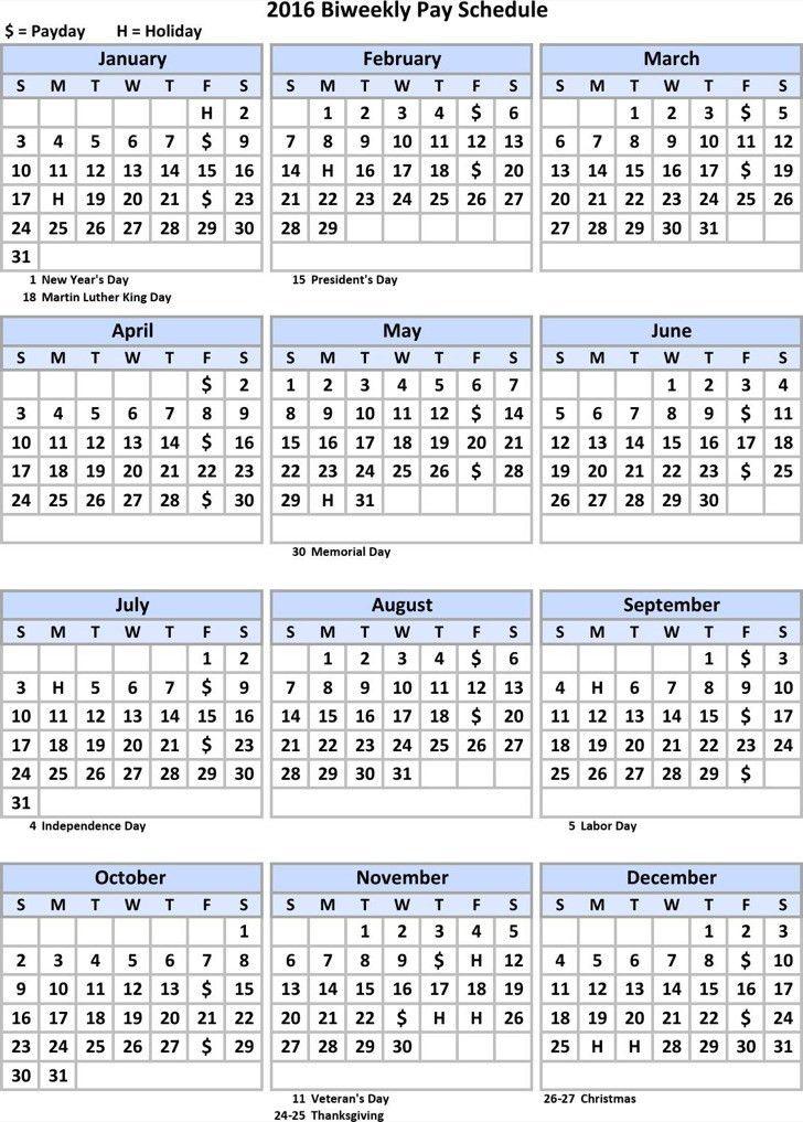 Pay Schedule Template - Contegri.com