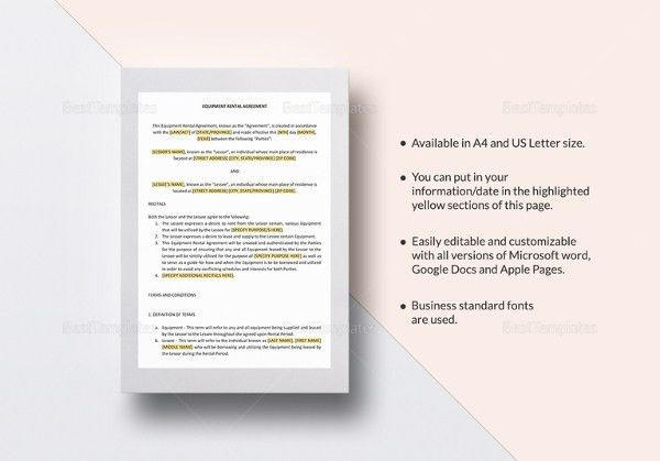 Simple Rental Agreement - 34+ Examples in PDF, Word | Free ...