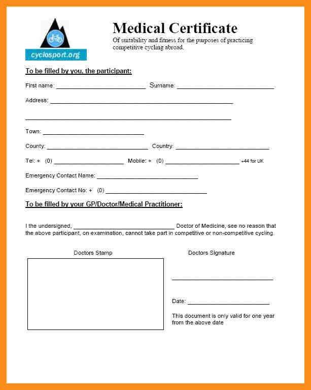 7+ medical certificate form | resume setups