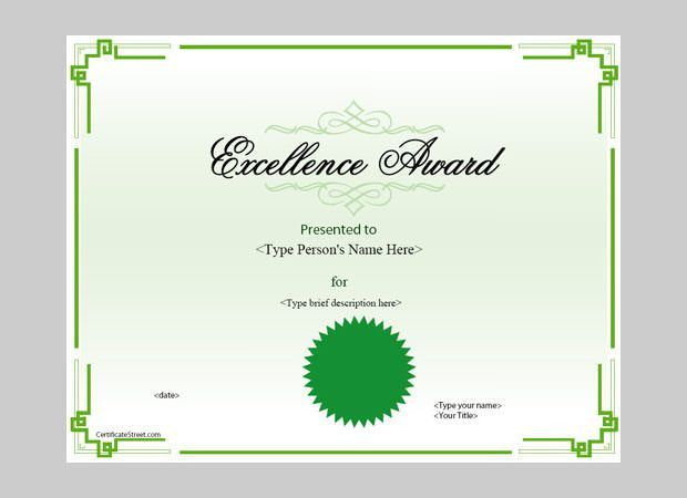 Award Certificate Template - 25+ Word, PDF, PSD Format Download ...
