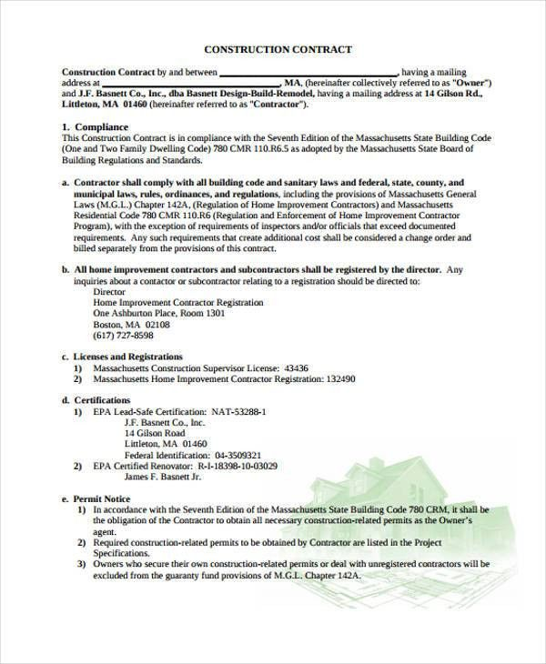 9+ Legal Contract Templates - Free Sample, Example Format Download ...