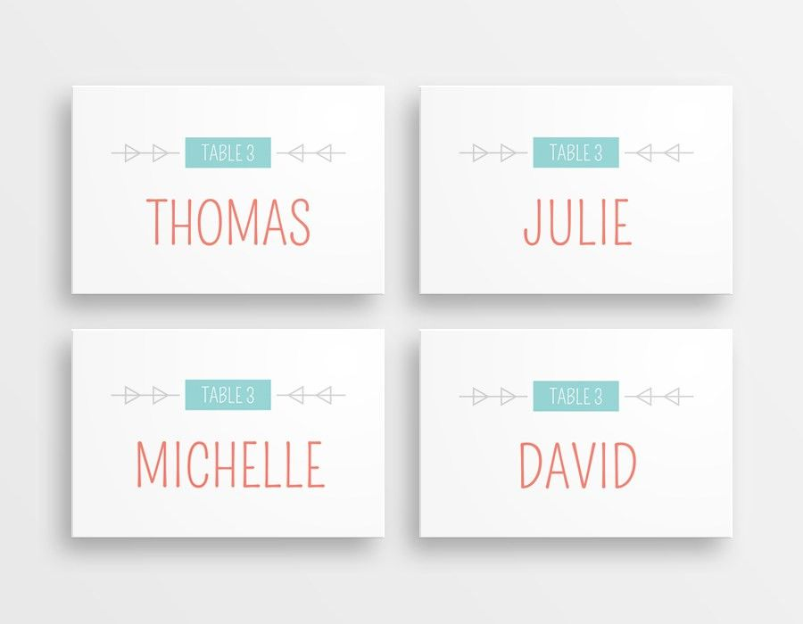 rustic hand printing place cards drawn effect family members name ...