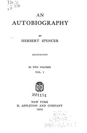 An Autobiography, 2 vols. - Online Library of Liberty
