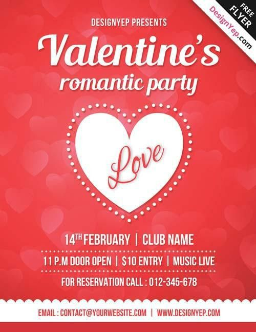 20 Lovely & Free Valentine Flyer Templates | UTemplates