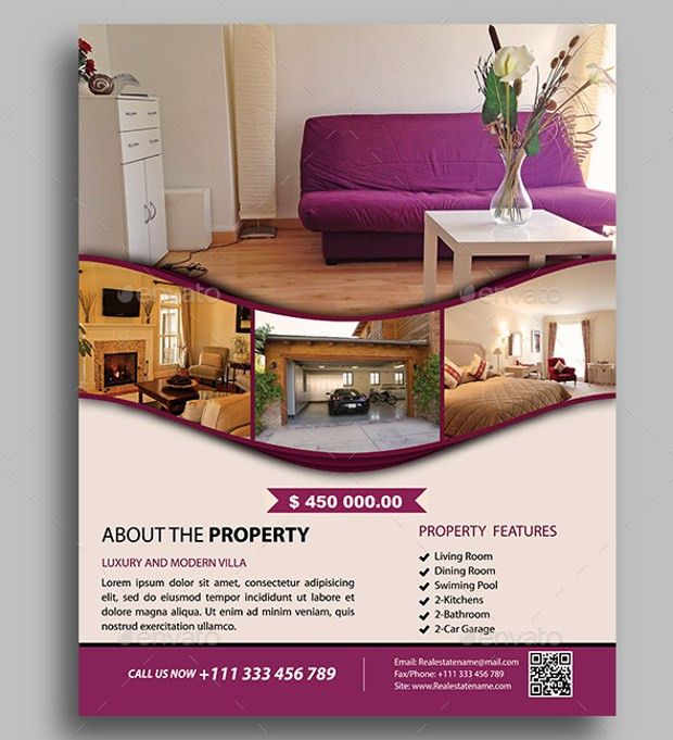 21+ Real Estate Flyer Designs, PSD Download | Design Trends ...