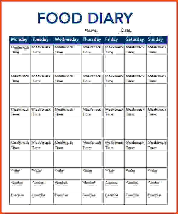 Food Journal Template.Food Diary Template.png - Sponsorship letter