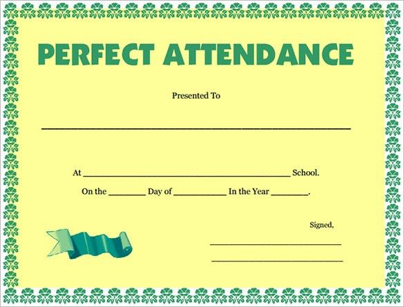 Professional Look Attendance Certificate Template Samples : Vatansun
