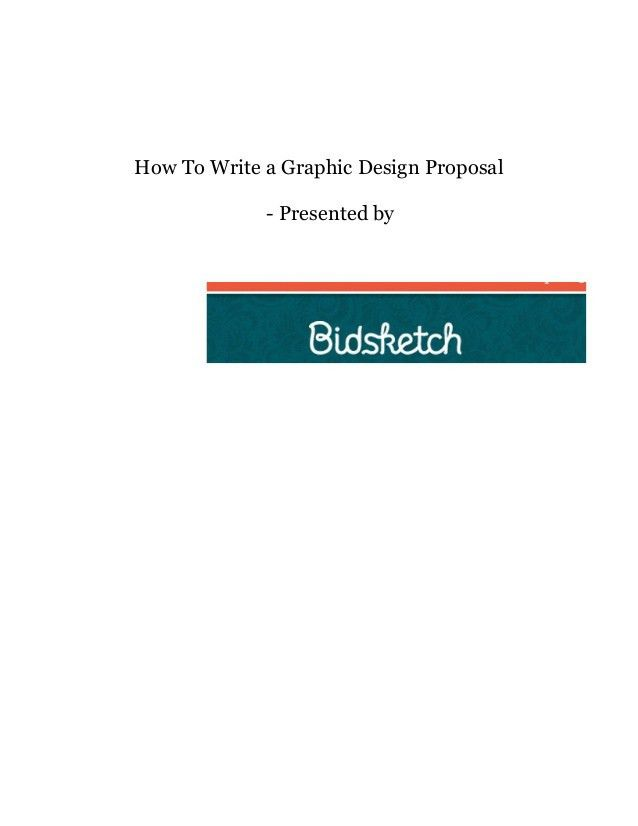 How to write a graphic design proposal 07.12.15