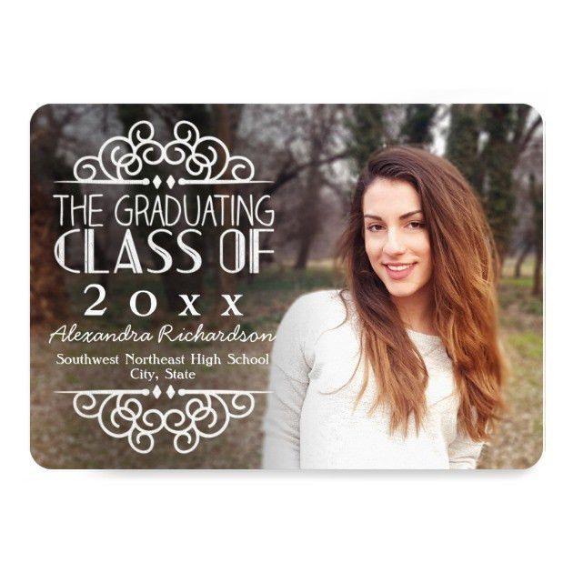 Personalized Chalkboard Graduation Invitations ...