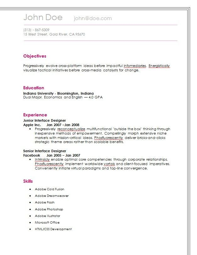 Simple Resume - Easiest Online Resume Builder