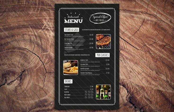 Free Chalkboard Restaurant Menu Template PSD - Free Download ...