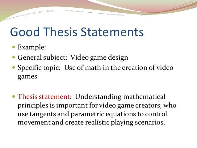 example of a good thesis statement for an essay thesis statement ...