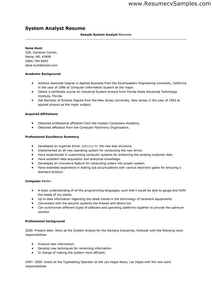 Data Analyst Resume Sample Don't for get to write a resume when ...