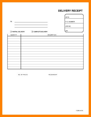 7+ delivery receipt template excel - mail clerked
