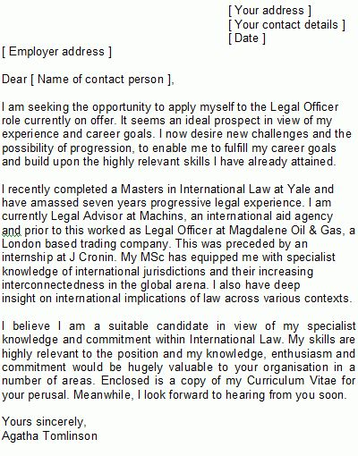 Legal Cover Letter Sample | How to Structure Lawyers' Covering Letters