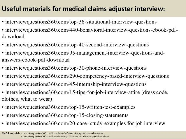 Top 10 medical claims adjuster interview questions and answers
