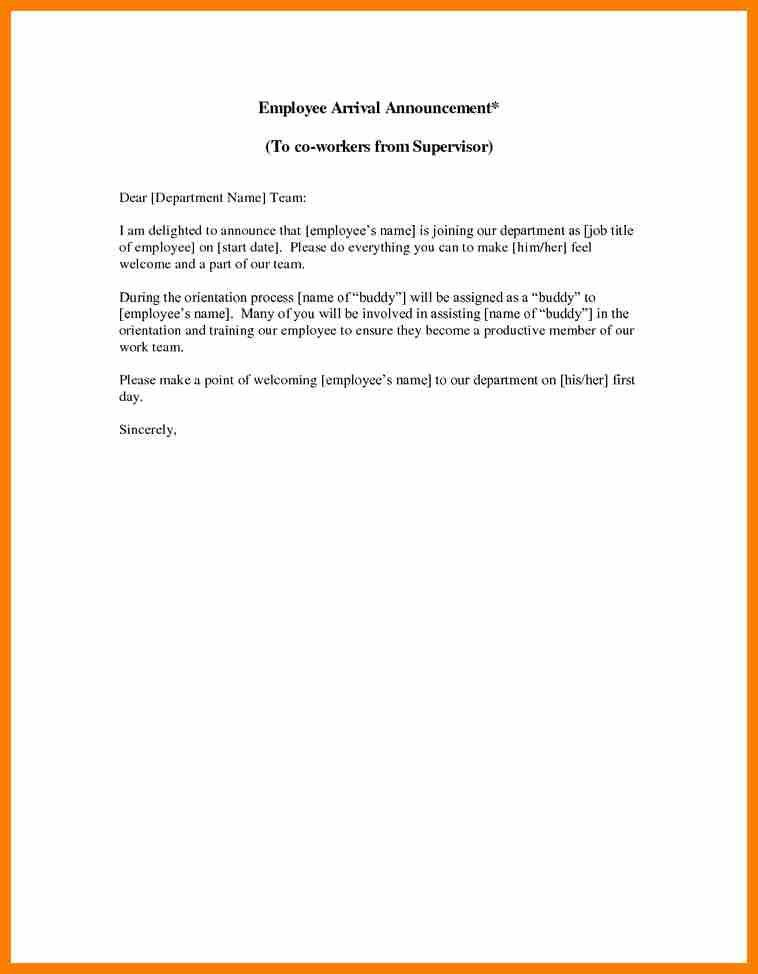 new hire announcement template