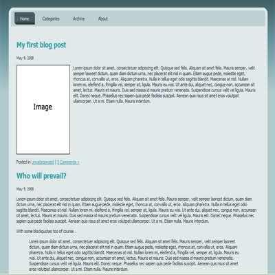 HTML CSS Simple Dark Bleu Template - Free Web Templates Dreamwaver
