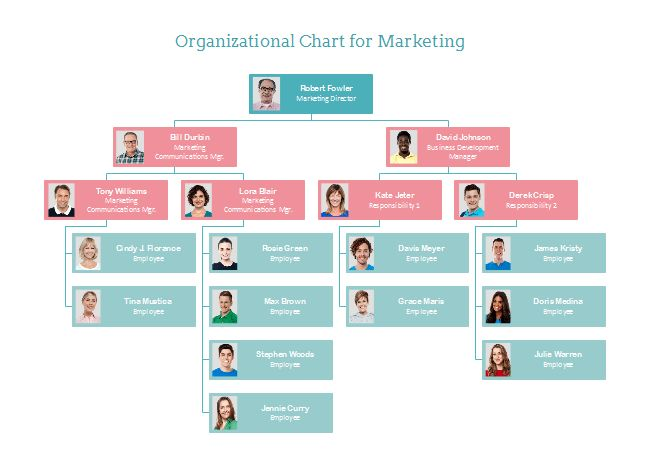 Marketing Org Chart | Free Marketing Org Chart Templates