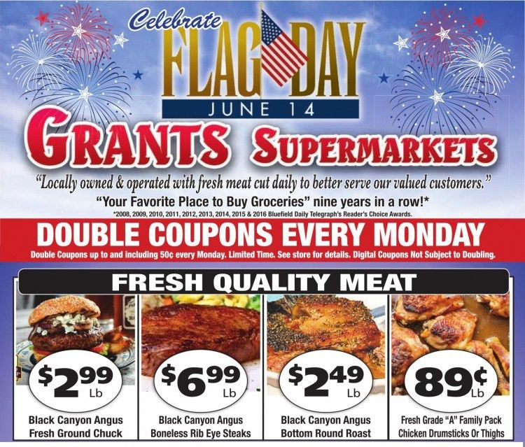 grants supermarket weekly flyer 6/10 to 6/16 2017 FLAG DAY 6/14 ...
