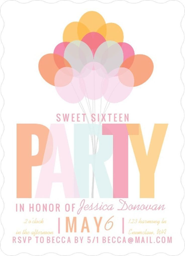 151 best Birthday Invitations images on Pinterest   Birthday ...
