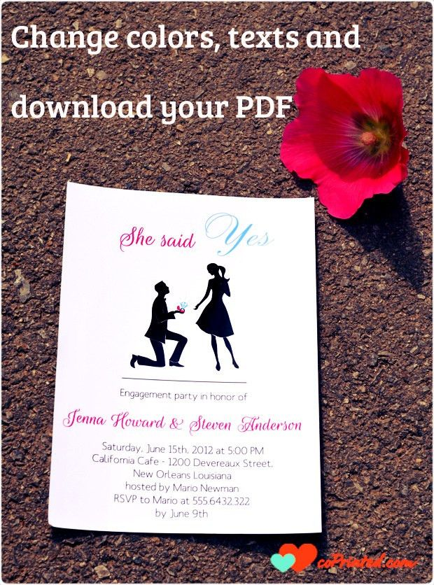 coPrinted | blog » Engagement Invitations Cards