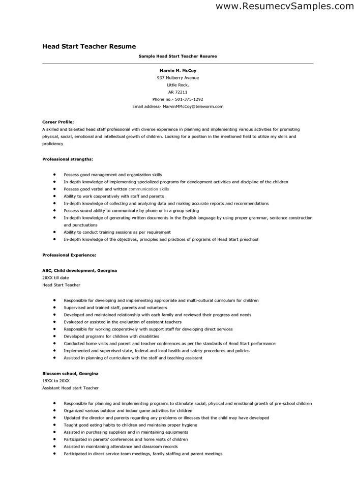 head start teacher resume professional head start teacher