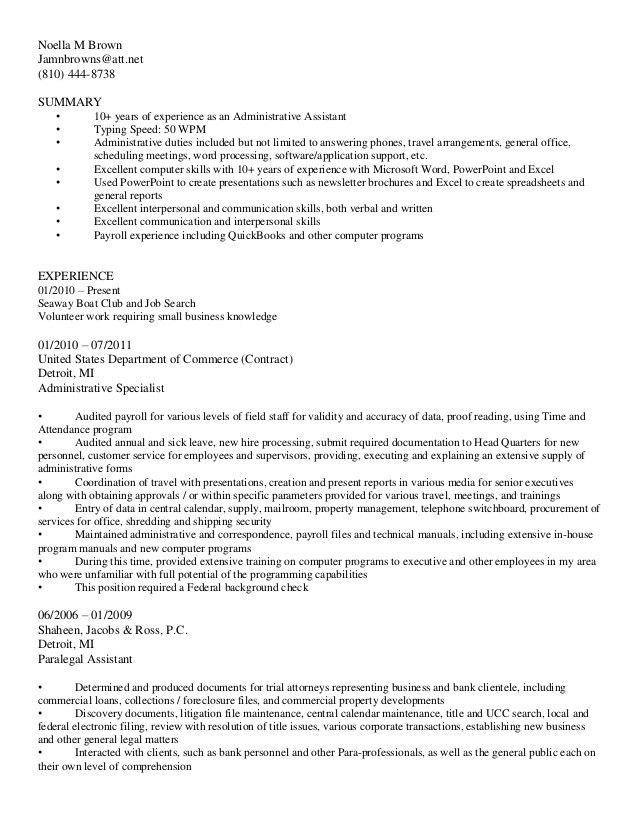 Bullet style resume