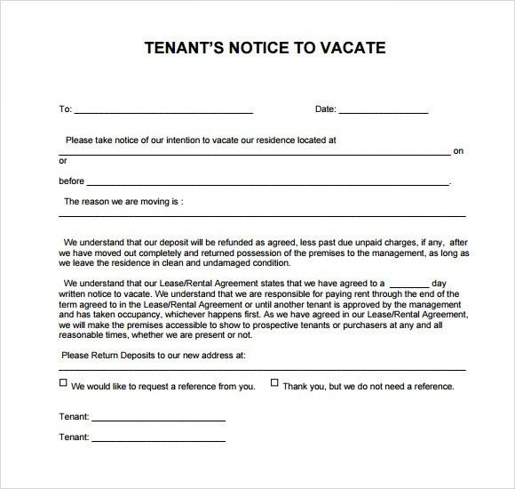 notice to vacate template. 30 eviction notice form invoice slips ...