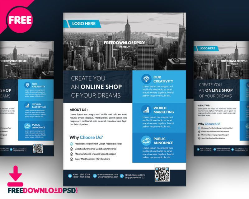 Real Estate Flyer Template Free PSD Download - Creative Genie