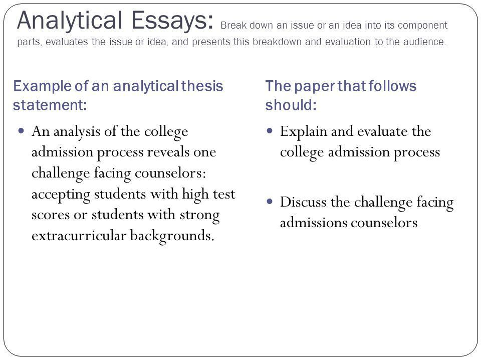 The central focus of any essay - ppt download