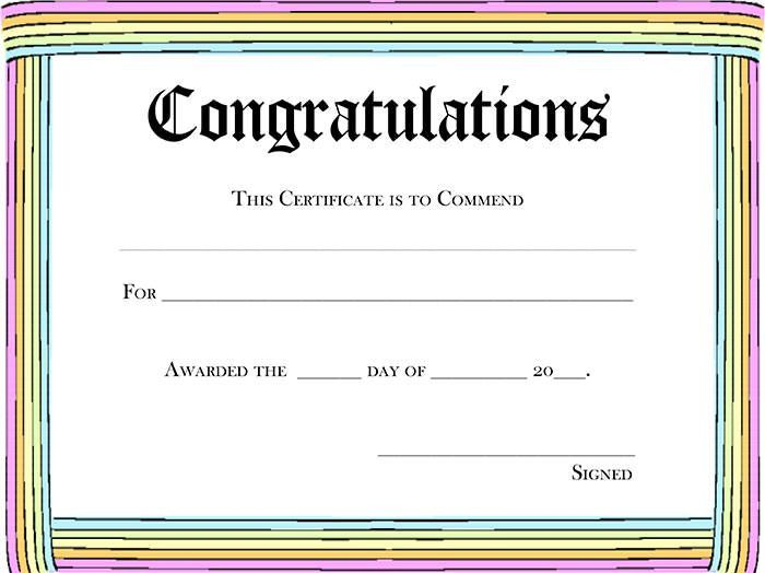 5 New Blank certificate awards | Blank Certificates