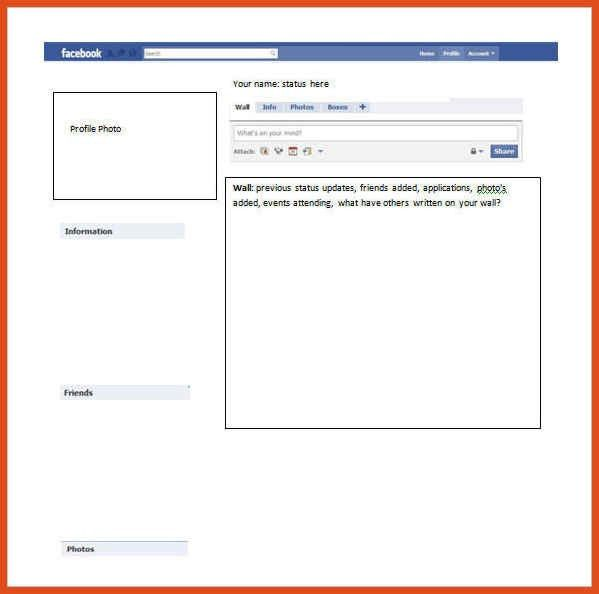 facebook profile template | moa format