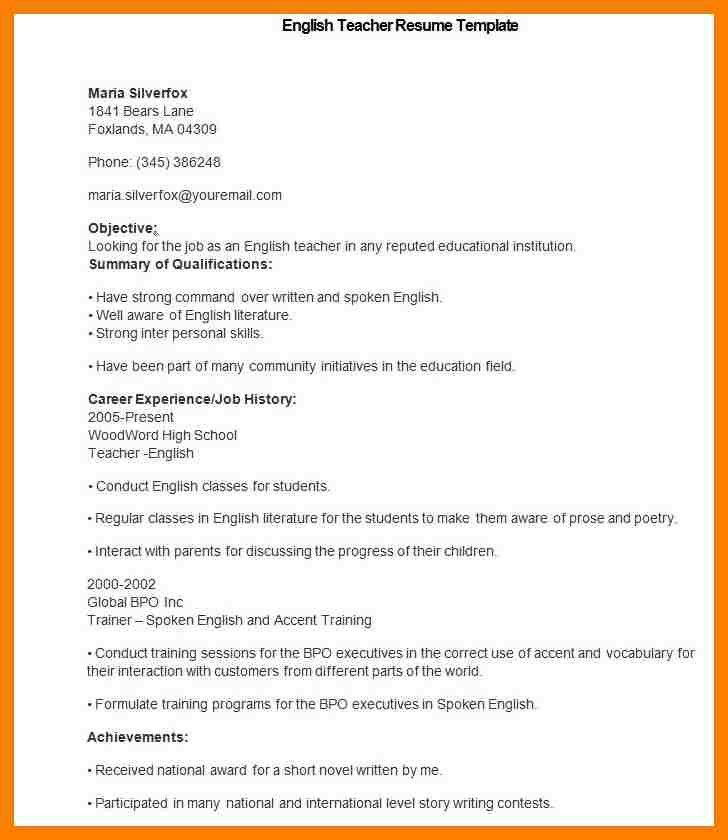6+ teacher resume format download | packaging clerks