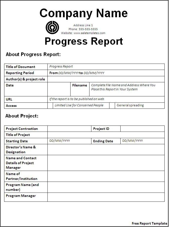 Company Report Template. Monthly Business Report Template Best ...