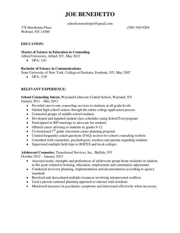 College Counselor Resume - Best Resume Collection