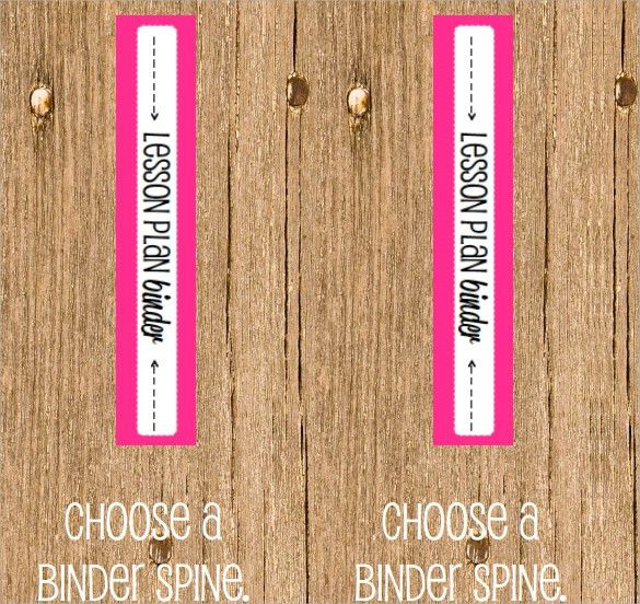 Sample Binder Spine Template - 5+ Documents in PDF, PSD