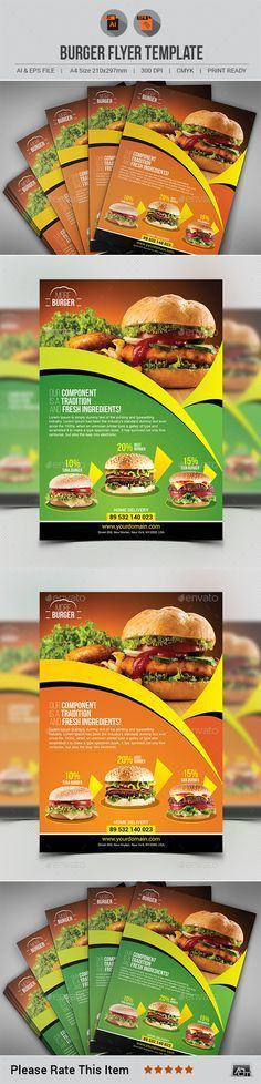 Burger Flyer | Graphics, Flyer template and Font logo