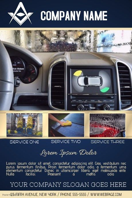 Car wash service business flyer template | PosterMyWall