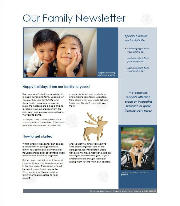 7+ Family Newsletter Templates – Free Word Documents Download ...